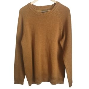 BRIXTON Mustard Wool Knitted Crewneck Sweater